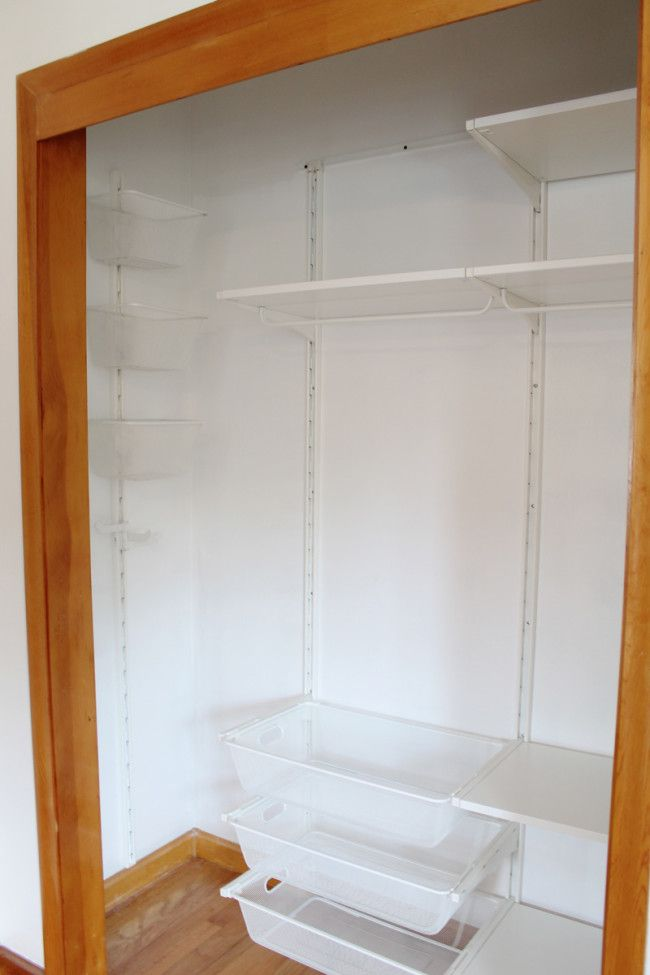 How to Organize a Small Closet for Maximum Storage Space (with IKEA Algot System Tips) | http://www.amandakatherine.com/how-to-organize-a-small-closet/