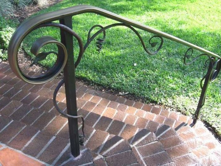 Our Favorite Outdoor Wrought Iron Stair Railing Near Me Only On In | Outdoor Handrails Near Me | Handrail Ideas | Metal | Wrought Iron Railings | Stair Railings | Steel Handrail