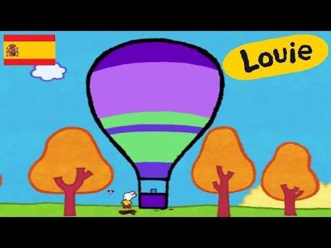 Globo aerostático - Louie dibujame un globo aerostático | Dibujos animados para niños - YouTube