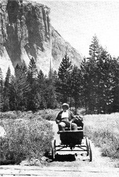 #TodayInCAHistory: On June 24, 1900, Oliver Lippincott drove the first automobile in Yosemite. A Los Angeles-based photographer, Lippincott spent several weeks photographing both Yosemite and his new invention the Locomobile, which was a steam-powered 2 cylinder vehicle with a top speed of 40 MPH.