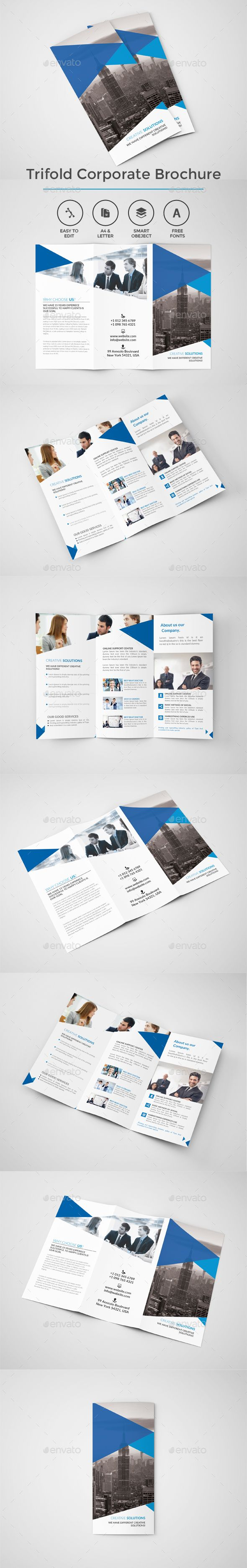 Creative Trifold Brochure Template PSD. Download here: http://graphicriver.net/item/creative-trifold-brochure/14582335?ref=ksioks