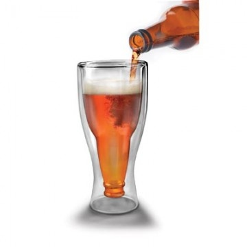 For those parties that are part casual, part formal, break out the Hopside Down Glass for your host or hostess. Pour the beer from your bottle into an upside down-shaped bottle enclosed in a glass. AU$19.95 from Australian Gifts Online.