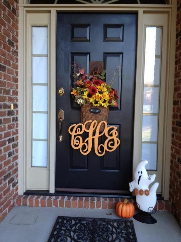 Painted Wooden Monogram Monogram Wreath Wedding by LetterMania, $55.00