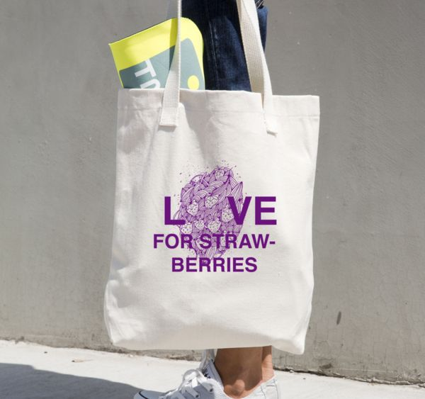 Love for Strawberries - Tote (Multiple Colours)
