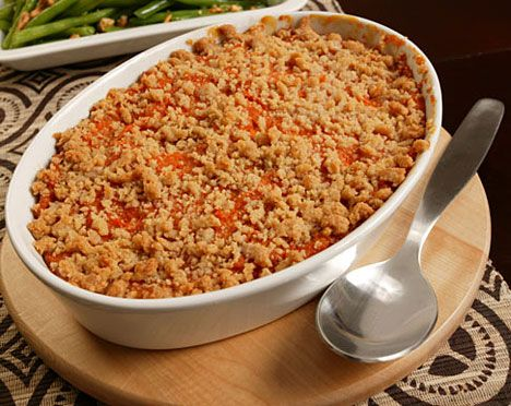 Sweet potato pur e with streusel topping recipe for What is sweet potato puree