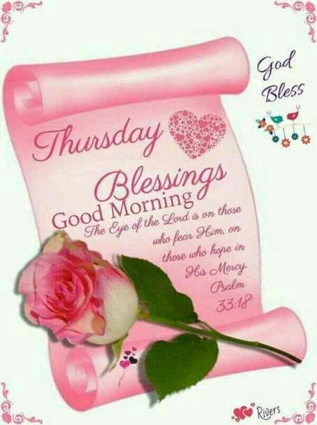 Thursday Blessings, Good Morning, Psalm 33:18