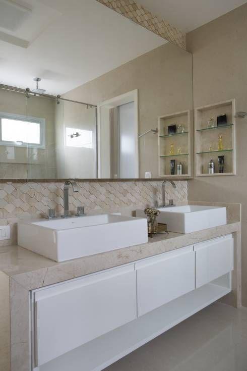 430 best Salle de Bains images on Pinterest Bathroom, Bathrooms - idee deco maison moderne