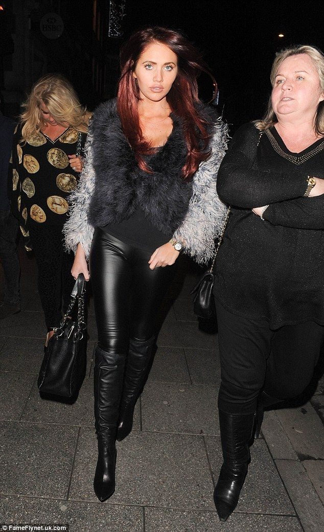 Also in attendance: Lydia's old pal Amy Childs was also at the Sugar Hut on Friday night...