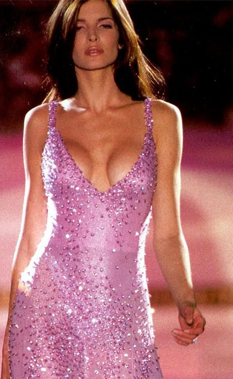 Stephanie Seymour for Gianni Versace #90s supermodel