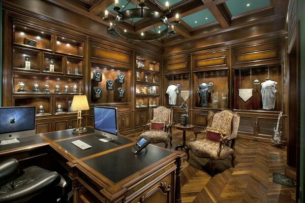 Grand home office/ library