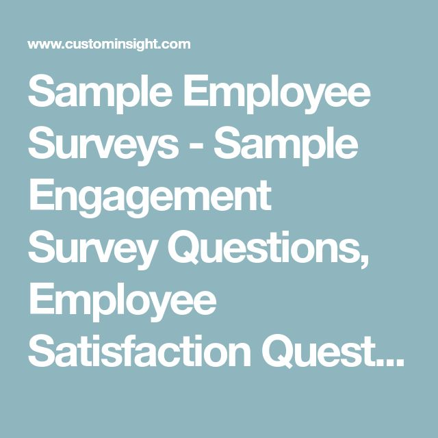 Best 25+ Employee satisfaction survey ideas on Pinterest Date 25 - employee survey
