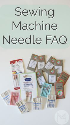 Sewing machine needle reference and tips for choosing the right needle as well as troubleshooting.