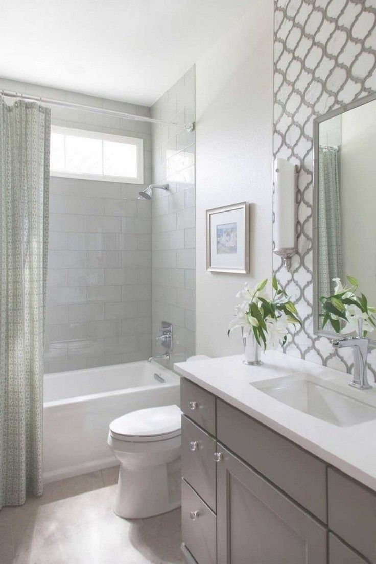 20 Design Ideas For A Small Bathroom Remodel Fun Home Design Small Bathroom With Tub Small Bathroom Tiles Bathroom Tub Shower
