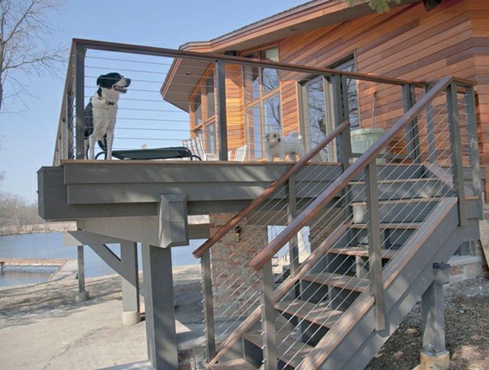 garde corps maison perfect salle a manger design escalier classique escalier design autres. Black Bedroom Furniture Sets. Home Design Ideas