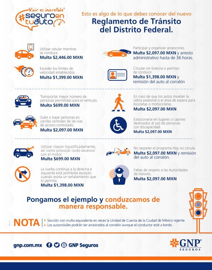 Conoce el nuevo Reglamento de Tránsito del DF #seguroentuauto #multas