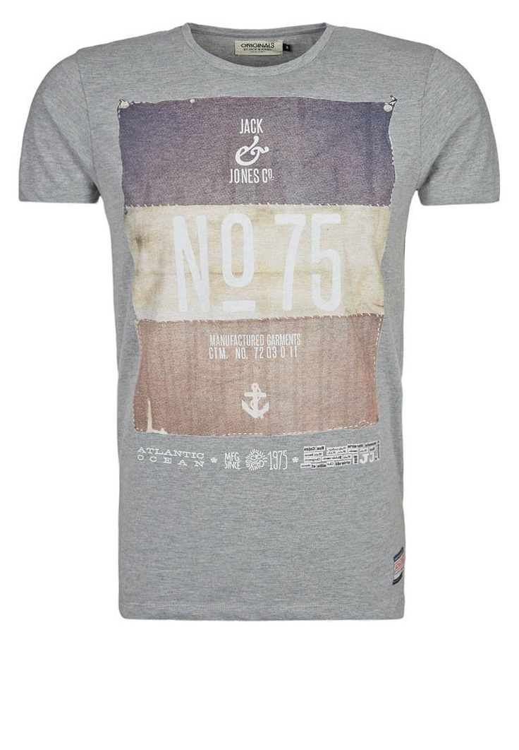 Jack & Jones - HAIL - T-shirt imprimé - gris