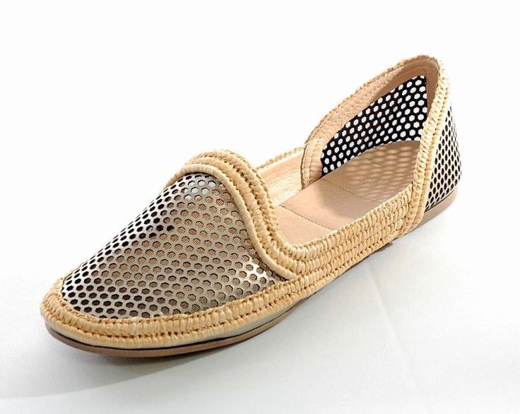 "**SOLD**   New!! ~EILEEN FISHER~ ""Etch"" Mirrored Perforated Espadrille Ballet Flats, Size 8 #EileenFisher #BalletFlats"