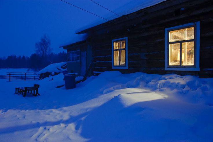 Замёрзшее морее, тёплая душа. Северная Карелия, деревня Нильмогуба. - Бродячий сказочник