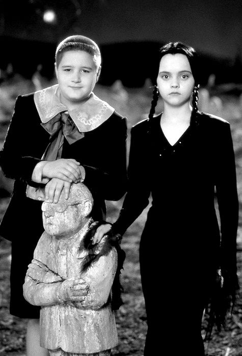 "Jimmy Workman as Pugsley Addams and Christina Ricci	  as Wednesday Addams - ""The Addams Family', 1991. ☚"