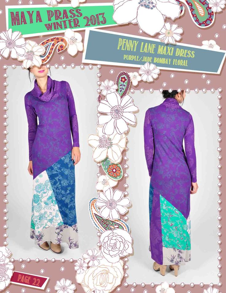 Penny-Lane maxi dress plum Bombay Floral
