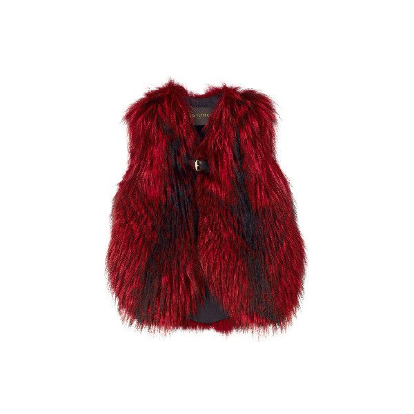 LOUIS VUITTON ❤ liked on Polyvore featuring outerwear, vests, jackets, louis vuitton, fur, red fur vest, vest waistcoat, fur vest and fur waistcoat