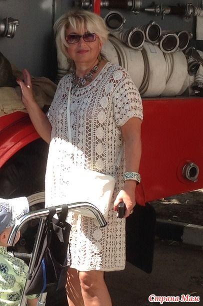 Давно не вязала, увы.. похвастаться нечем... Это платье 2014г, (в дневнике запись http://www.stranamam.ru/  думала, будет как пляжное, но так и не обновила на отдыхе, решила носить в городе.