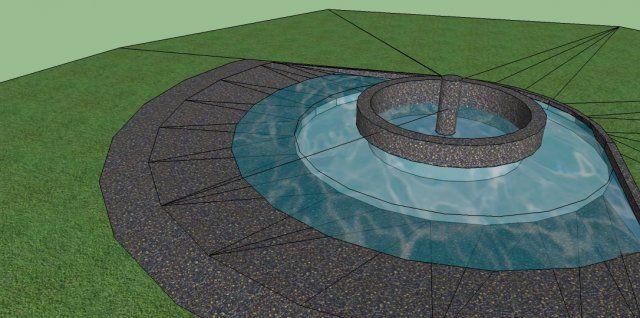 wizualizacja fontanna  www.projektowanieogrody.pl