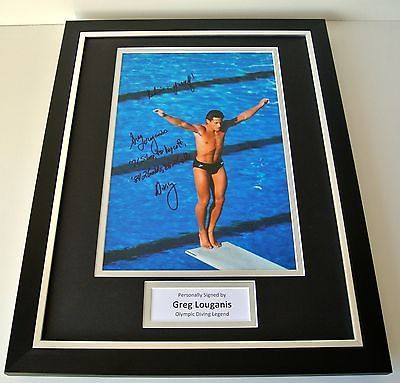 Greg #louganis signed framed photo autograph 16x12 display #olympic #diving & coa,  View more on the LINK: 	http://www.zeppy.io/product/gb/2/381264307651/