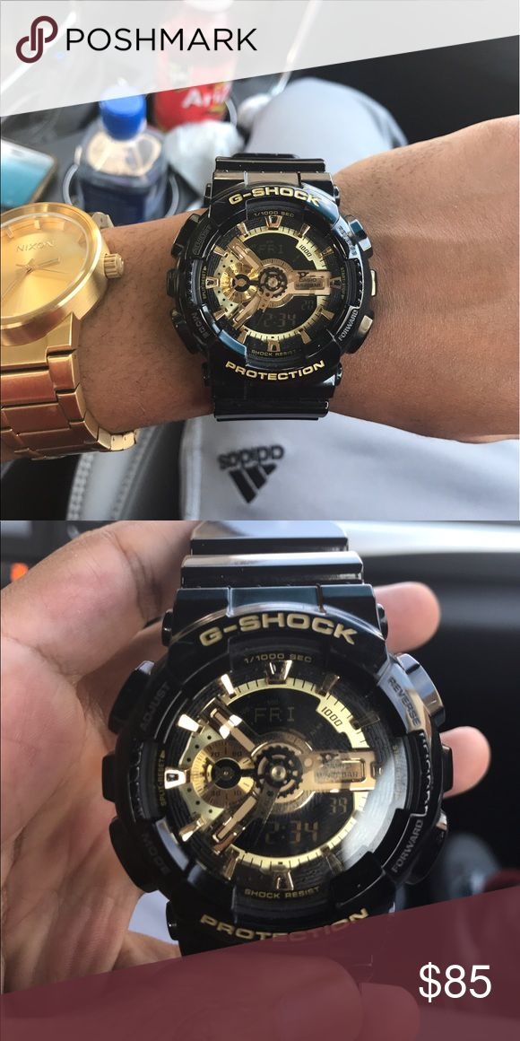 Black and Gold G shock watch 9/10. Barely worn Accessories Watches