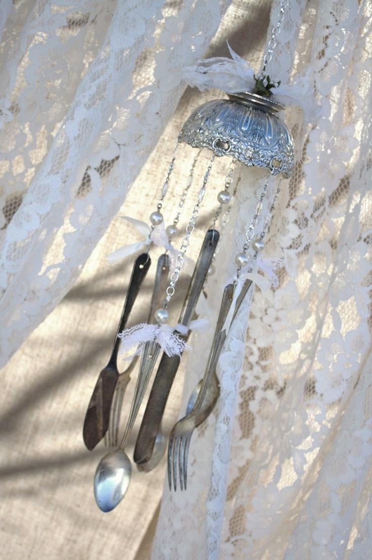 285 best silverware windchimes images on pinterest suncatchers