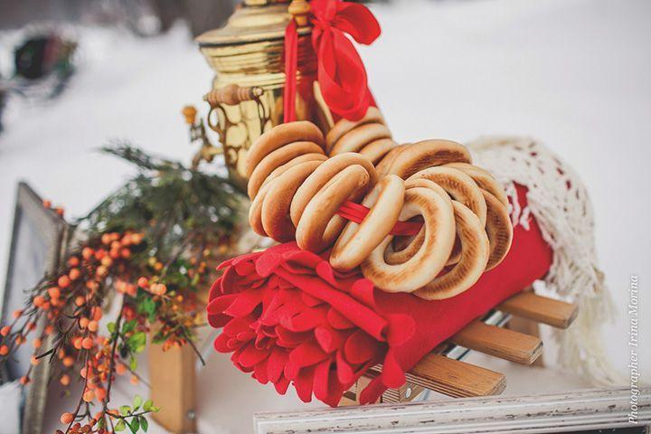 свадьба зимой в русском стиле