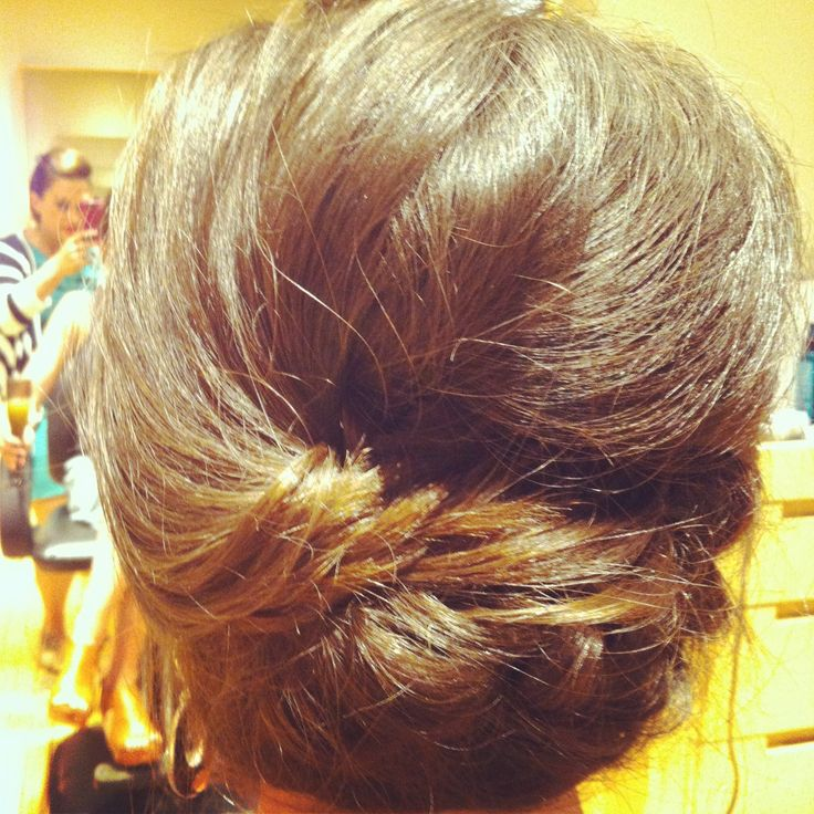 www.chicagostylel... Bridal hair updo. Braid and twist with loose messy bun. Bride or bridesmaid hair. wedding hairstyle. Party or special occasion ha...
