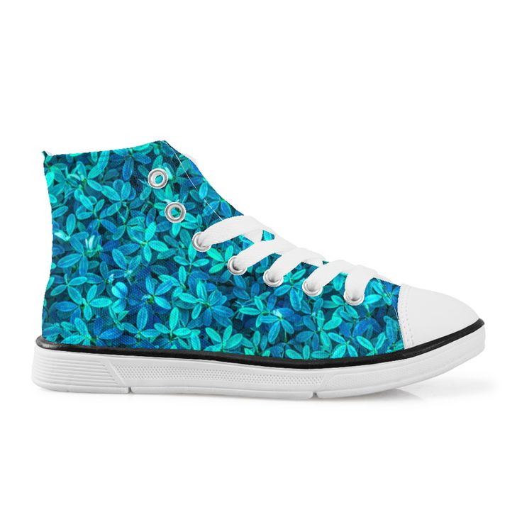 Floral Teal leaf spring summer