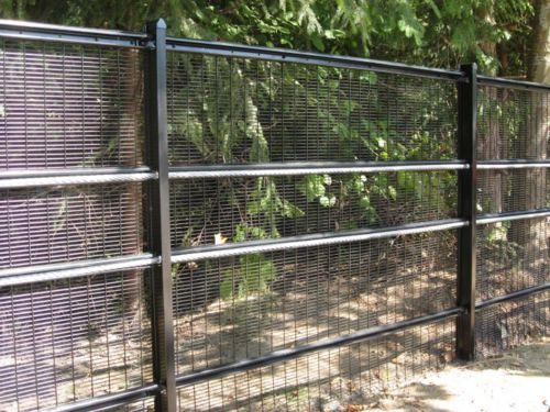 Here is a security fence with anti ram capabilities.