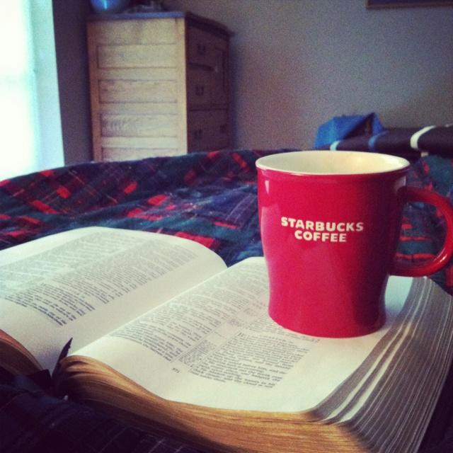 A near perfect morning. Mug o coffee and my Bible