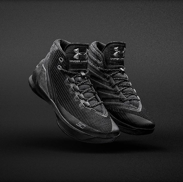 It's lights out when Stephen steps behind the 3-point line.  The #Curry 3 'Trifecta Black' is out now at @stirlingsportsofficial  and @footlocker_nz