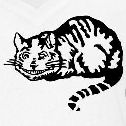 Cheshire cat, chat du Cheshire, dessiné en format vectoriel spécial impression t-shirt.