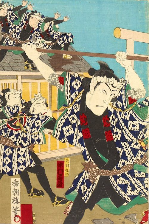 め組の喧嘩(「め組」の鳶人足・辰五郎と長次郎たち)
