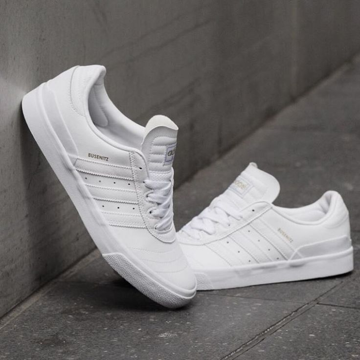 adidas Skateboarding Busenitz Vulc: White Leather