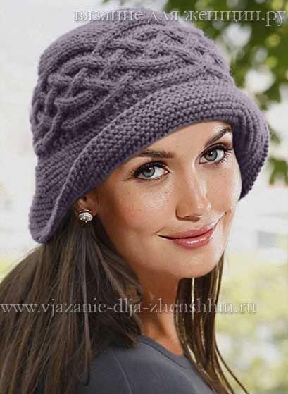 Вязание спицами шляпки