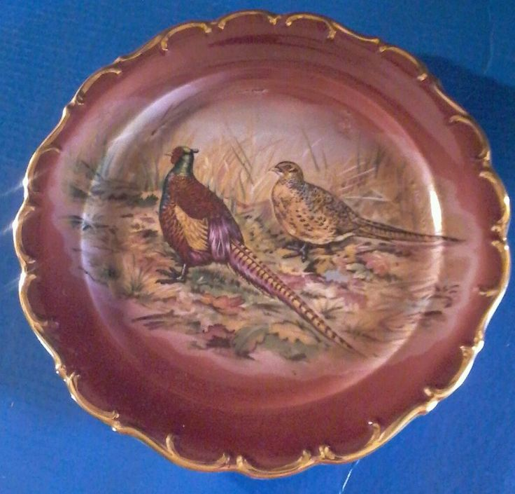 Bayreuth Bavaria Collector's Plate West Germany Pheasant Bird Hunter Hunting