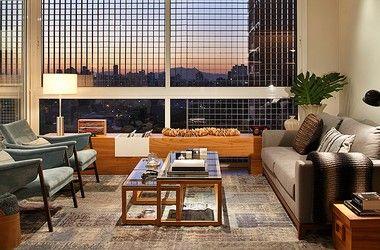 Dois apartamentos no mesmo prédio com estilos diferentes