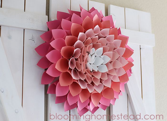 Paper Wreath Tutorial....such a fun and gorgeous spring wreath!