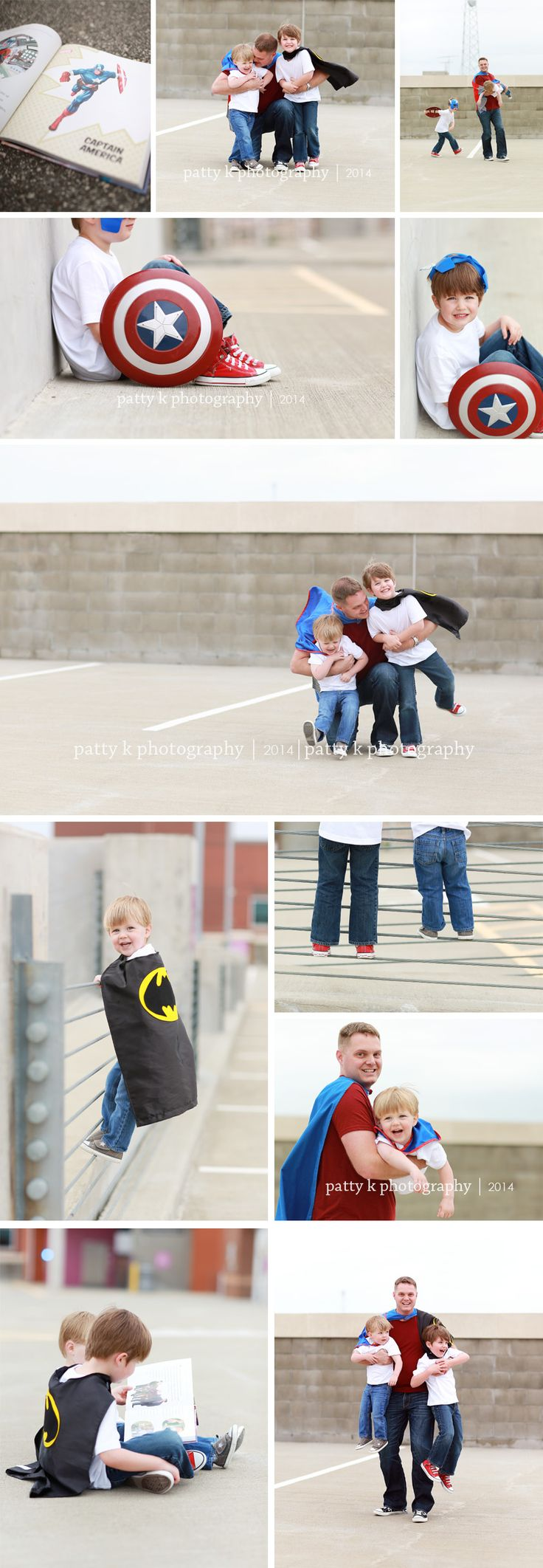 Super Hero Daddy & Me | Imagination Session | Fayetteville, NC Lifestyle Photographer | Patty K Photography