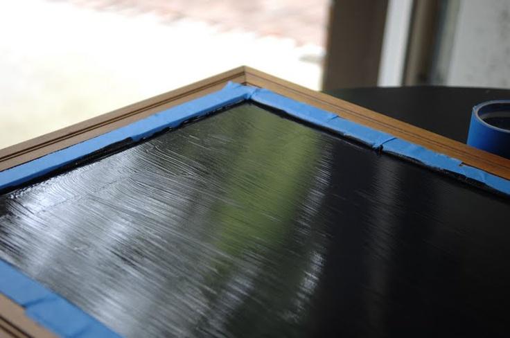 Chalkboard/Picture frame tutorial