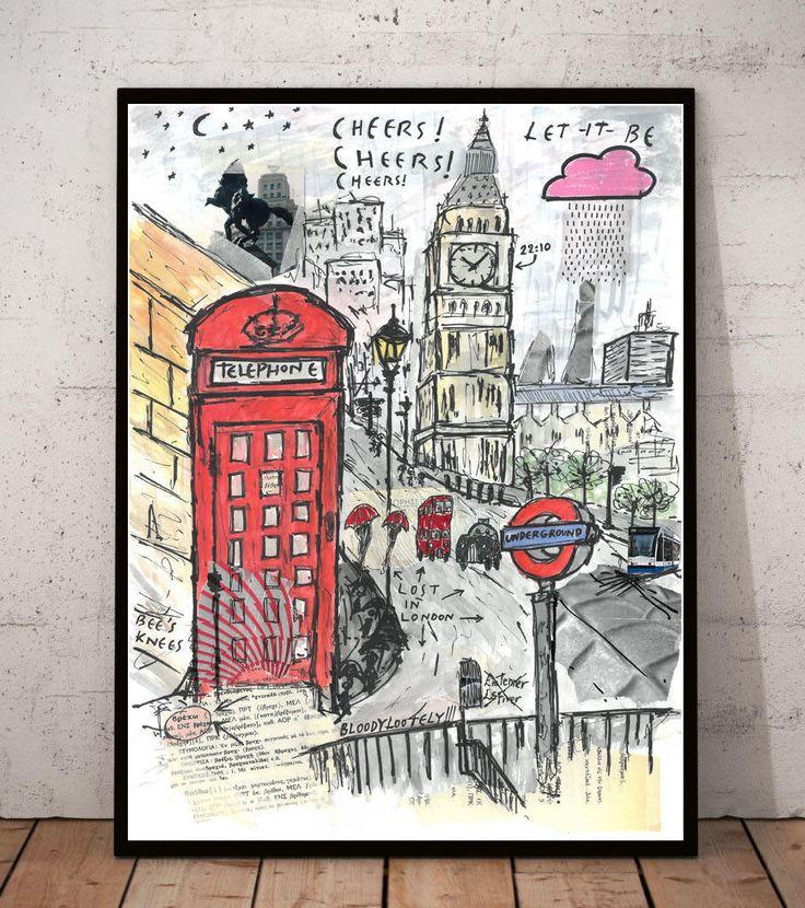 Urban print london print urban art print digital prints