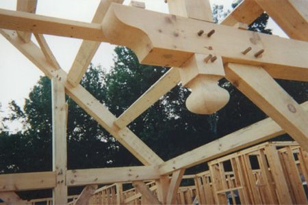Fasteners In Timber Frame Joinery Known As Dowels Pegs