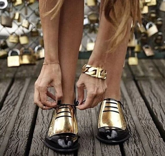 Image result for black women in metallic shoes