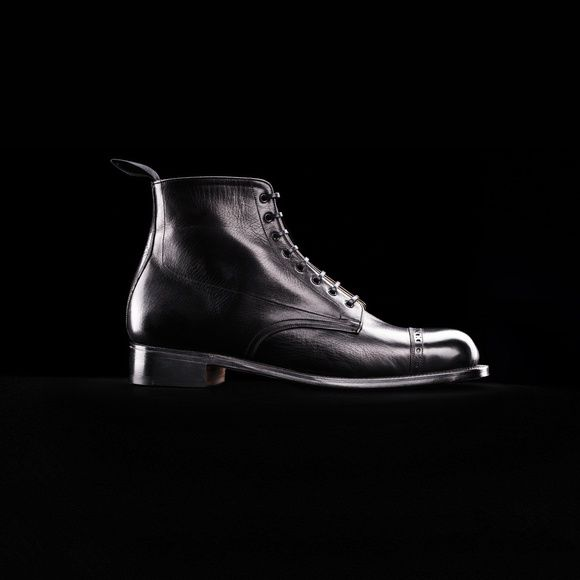 Shoe No 1, 1900's. Shop Here.. http://www.grenson.com/uk/shoe-no-1-mens-derby-boot-black-glace-kid-leather-leather-sole.html