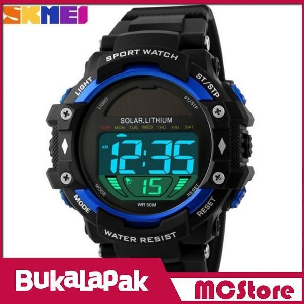 Beli MCStore Jam Tangan Pria SKMEI Solar Power Sport Watch Water Resistant 50m - DG11291 - Blue dari MCStore habibwaldani - Jakarta Barat hanya di Bukalapak